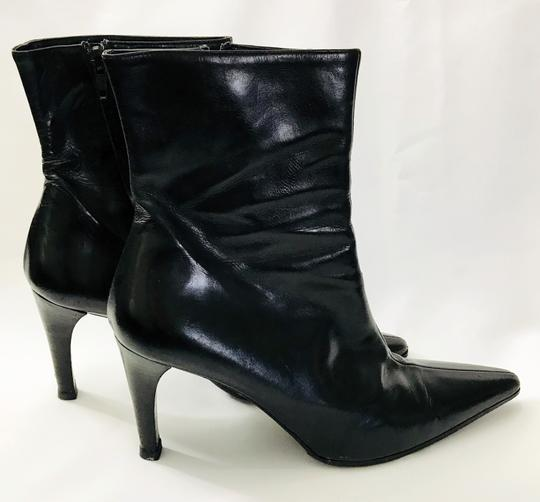 Barneys New York Leather Stiletto Vintage Private Label Black Boots