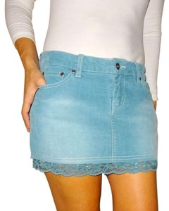 Tilly's Corderoy Outfit Lace Mini Skirt Blue