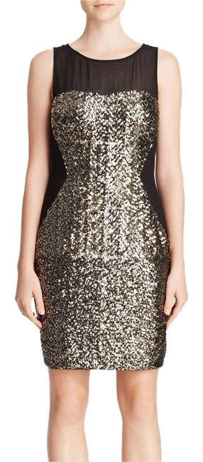 Preload https://item2.tradesy.com/images/aqua-black-and-gold-sleeveless-illusion-sequin-bodycon-above-knee-cocktail-dress-size-4-s-13566526-0-1.jpg?width=400&height=650