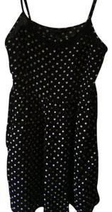Forever 21 Polka Dot Top Black/white