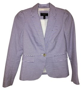 J.Crew Maritime Nautical Blue and White Stripe Blazer