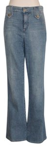 Marc Jacobs Wide Distressed 80's Flare Leg Jeans-Medium Wash