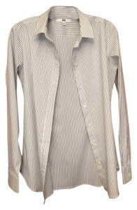 Uniqlo Button Down Shirt white/black stripes