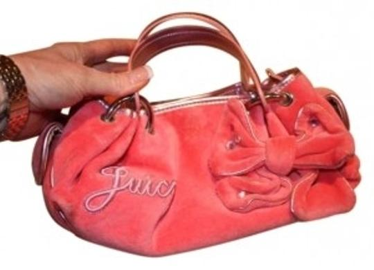 Preload https://item3.tradesy.com/images/juicy-couture-pink-velour-with-metalic-trim-satchel-135672-0-0.jpg?width=440&height=440