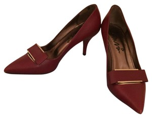 Lanvin Bordeaux Burgundy Pumps