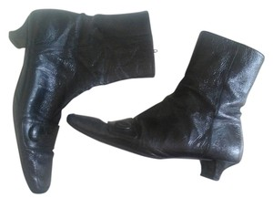Echles Ledar Black Patent Leather Boots