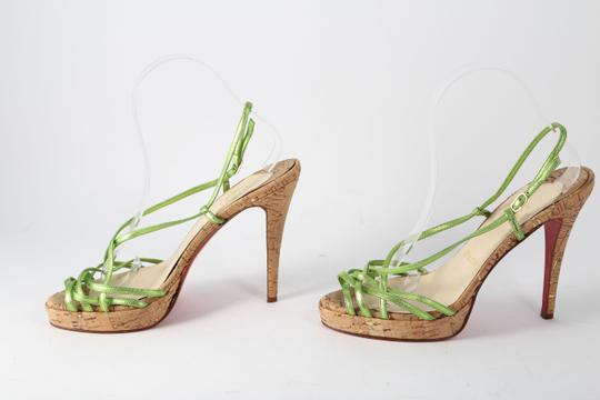 Christian Louboutin Green Sandals Image 1