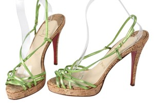 Christian Louboutin Green Metallic Sandals