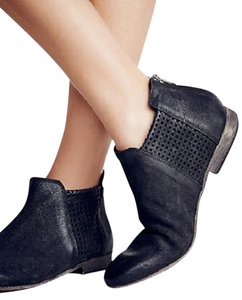 Free People Clean Slates Ankle 38 Black Boots