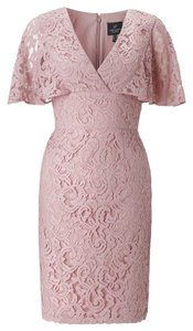 Adrianna Papell Flutter Sleeve Lace Dress