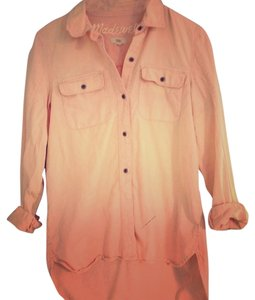 Madewell Jcrew Button Down Shirt Peach
