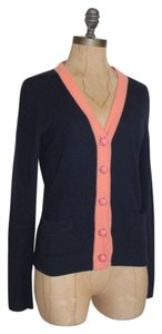 J.Crew Rabbit Hair Cashmere Merino Navy Cardigan