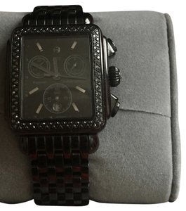 Michele Ladies Michele Deco Noir Black Diamonds Chronograph MW06A02E1937