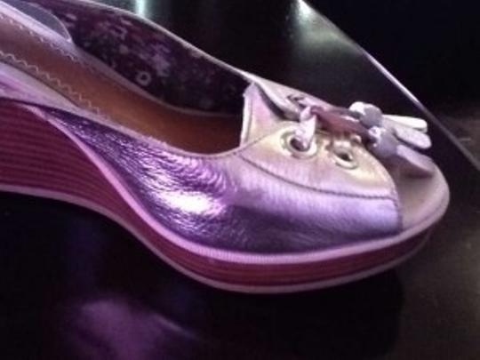 Sperry Gold pewter Wedges