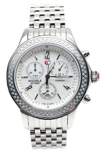 Michele 'Jetway' Chronograph Diamond Watch
