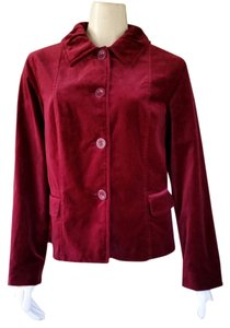 Chico's Velvet Jacket Wine Blazer
