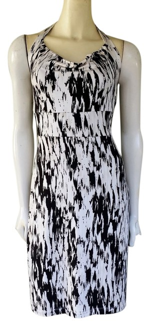 Preload https://item2.tradesy.com/images/ann-taylor-black-print-slinky-halter-knee-length-night-out-dress-size-8-m-1356996-0-0.jpg?width=400&height=650