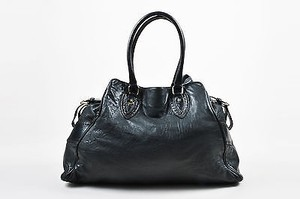 Fendi Leather Top Tote in Black