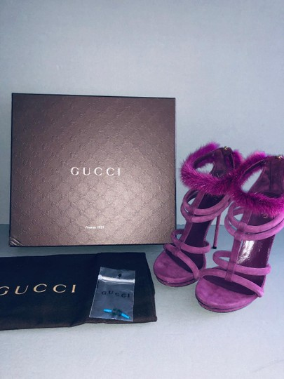 Gucci Pumps With Box Purple Sandals Image 4
