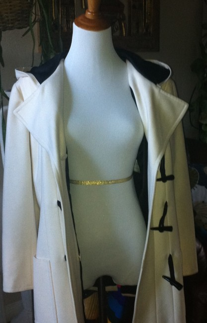 Chanel Black And Silk Lining Cc Logo Toggles Hooded Coat