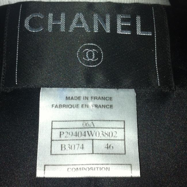 Chanel Laine Cc Logo Silk Black Hooded Horn Toggles Coat