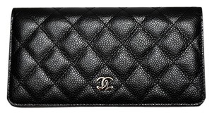 Chanel Quilted Long Bifold Wallet
