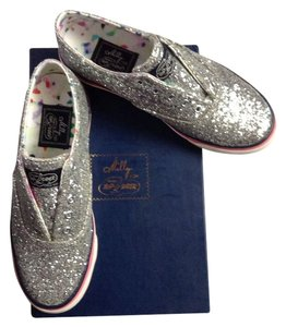 Sperry Boat Summer Spring Top-sider Slip-on Laceless Silver Glitter Flats