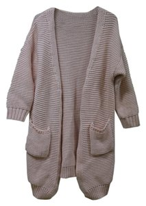 Other Knit Bubblegum Chunky Knit Oversize Cardigan