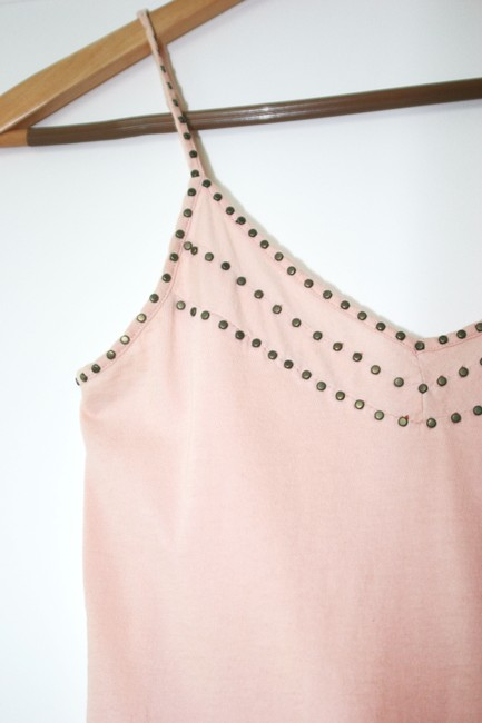 Sparkle & Fade Studded Size Small Top Light Pink