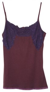 Sparkle & Fade & Lace Trim Size Small Top Plum, Purple