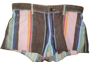 JOE'S Jeans Cutoff Rainbow Multi-stripe Mini/Short Shorts Multicolor stripe