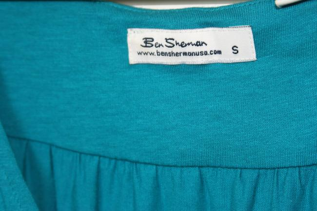 Ben Sherman Tie Back Size Small Top Peacock Blue