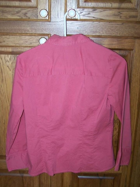 Old Navy Size Small Stretch Button Down Shirt Coral