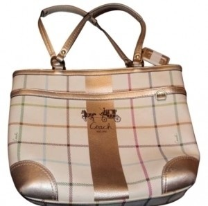 Coach Tote in beige/multi