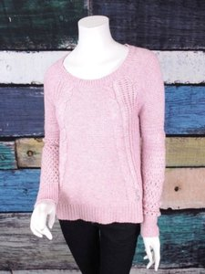 American Eagle Outfitters Ae Open Knit Cotton Wool Sweater