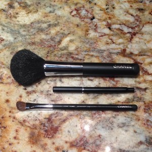 Chanel Three Chanel Makeup Brushes