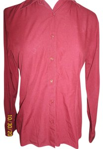 Petite Sophisticate Long Sleeve Career Top Burgundy