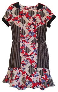 Peter Pilotto for Target Party Geometic Cap Sleeve Ruffle High-low Key-hole Christmas New Years Eve Dress