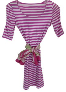 Lilly Pulitzer short dress Purple and white Stripes Preppy Soft on Tradesy