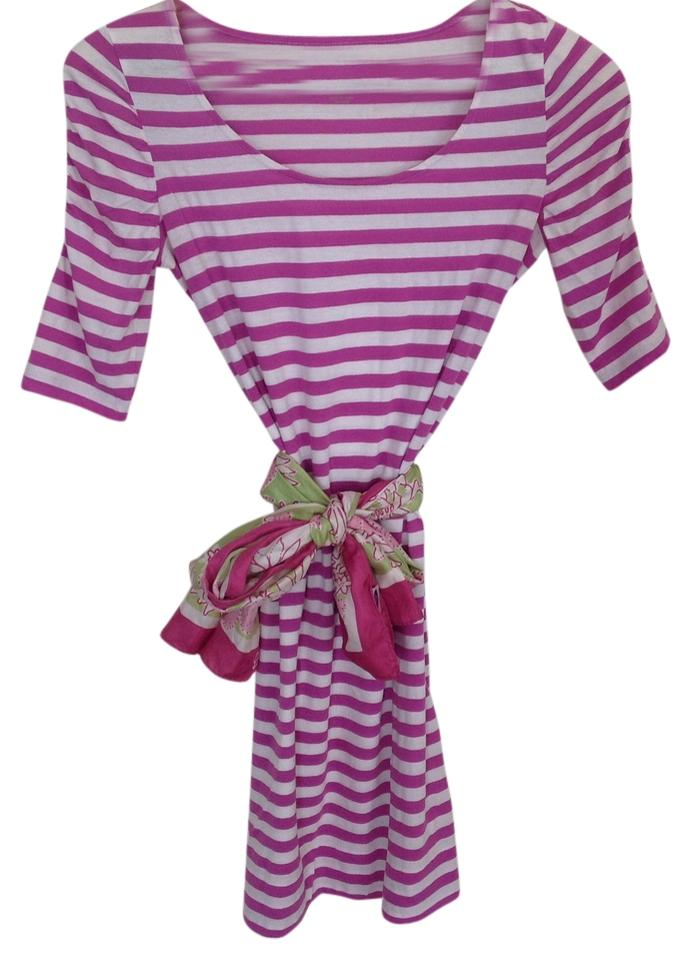 a957a782d06c Lilly Pulitzer short dress Purple and white Stripes Preppy Soft on Tradesy  Image 0 ...