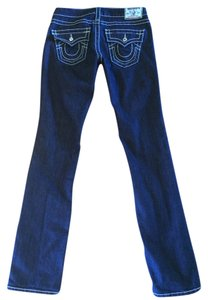 True Religion With Swarovski Elements Swarovski Straight Leg Jeans-Dark Rinse