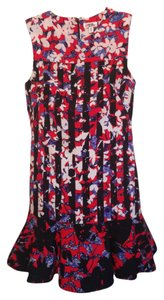 Peter Pilotto for Target Floral Geometric Party Garden Drop Waist Sleeveless Ruffle Round Neck Dress