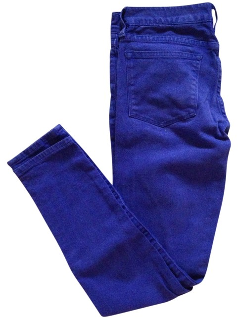 J.Crew Colored Denim Skinny Ankle Skinny Jeans-Medium Wash