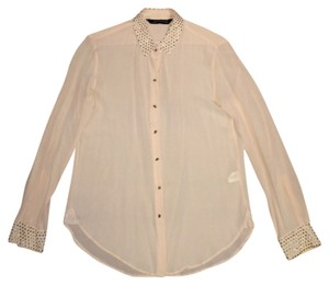 Zara Button Down Shirt Pink blush