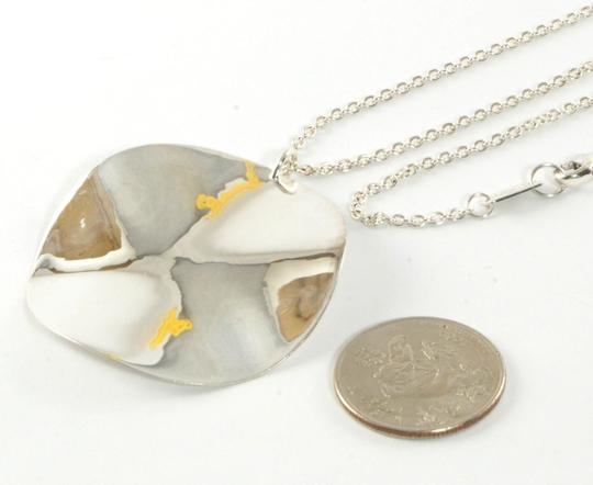 """Ippolita Ippolita Large Wavy Circle Pendant Necklace Sterling Silver Long Chain 38"""" .925"""