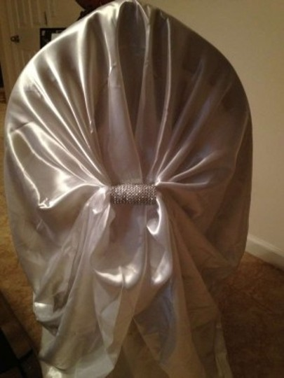 White 70 Satin Universal Chair Covers In with Diamond Wrap Covers Other