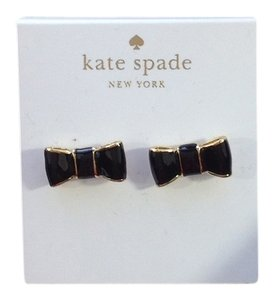 Kate Spade NEW Kate Spade black and gold bow earrings