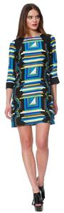 Alice & Trixie short dress Black/multi Shift Silk Geometric on Tradesy