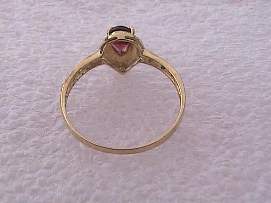 Other 10k Yellow Gold 0.45 cts Pear Garnet & Diamond Ring Image 5