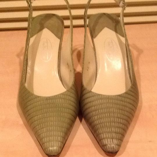 Talbots Leather Dark Willow Pumps